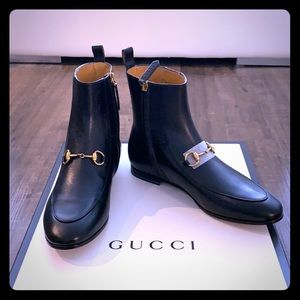 Gucci Ankle Boots with Horsebit detail 35.5 NIB